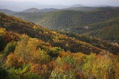 Radan berg nära Prolom Banja serbia arkivfoton