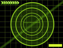 Radar. Black background with green mesh. radar illustration Stock Photos