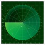 Radar. Green radar screen, illustration AI8 compatible, mesh gradiern used