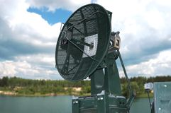 Radar. Military, mobile radar of an antiaircraft gun Royalty Free Stock Photo