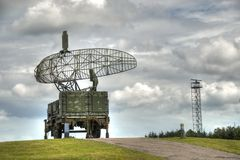 RADAR. For missile control and aiming, at the cold war museum at Stevnsfortet, Denmark Royalty Free Stock Photo