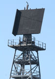 Radar. Tower On Navy Ship Stock Photography