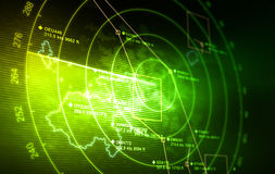 Radar. Abstract radar with targets in action Stock Photos