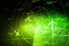 Radar abstrait avec des cibles Photographie stock libre de droits
