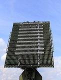 Radar antenna of the air defence system Stock Photo