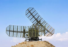 Radar antenna Royalty Free Stock Image