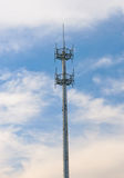 Radar antenna. Broadcasting Telecommunications radar antenna plays an important function in the sky Stock Photo