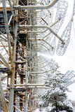 Radar antenna. Duga in Chernobyl 2, Ukraine.. Exclusion Zone. Stock Photography