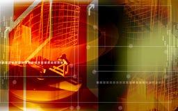Radar antenna sending signals Stock Image
