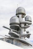 Radar auf einer Yacht Stockfotos
