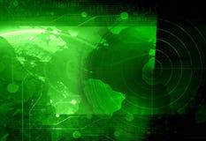 Radar avskärmer vektor illustrationer