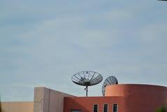 Radar in blue sky Stock Images