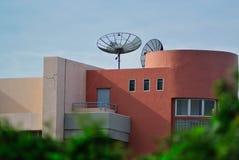 Radar in blue sky Royalty Free Stock Images