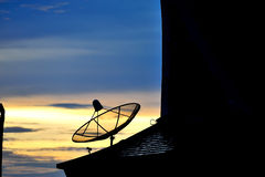 Radar in blue sky Royalty Free Stock Photography
