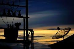 Radar in blue sky Stock Photography