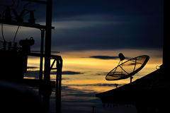 Radar in blue sky Royalty Free Stock Image