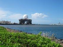 Radar chez Pearl Harbor, Oahu, Hawaï Photo libre de droits