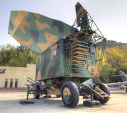 Radar. China's military radar equipment.this photo is taken by hdr Royalty Free Stock Image