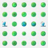 Radar colorful icons set Stock Photo