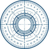 Radar compass rose stock illustration