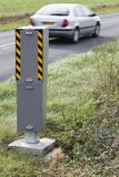 Radar control on a road. In France Stock Photos