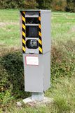 Radar control on a road. In France Stock Image