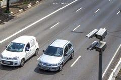 Radar de contrôle de vitesse Images libres de droits