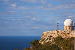 Radar de Dingli à Malte Photo libre de droits
