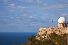 Radar de Dingli en Malta Foto de archivo libre de regalías