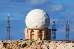Radar de Dingli à Malte Image libre de droits