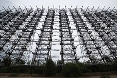 Radar de Duga dans Pripyat, Chernobyl Photos libres de droits