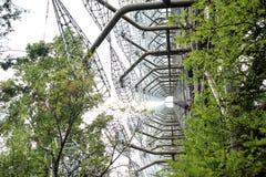 Radar de Duga dans Pripyat, Chernobyl Photographie stock libre de droits