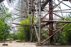 Radar de Duga dans Pripyat, Chernobyl Images libres de droits