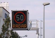 Radar de la cámara de la velocidad fotografía de archivo libre de regalías