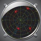 Radar de los mandos de vuelo Imagen de archivo