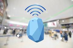 Radar de maison et de bureau de dispositif de balise Utilisation pour toutes les situations esprit images libres de droits