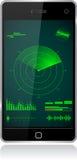 Radar de Smartphone Imágenes de archivo libres de regalías