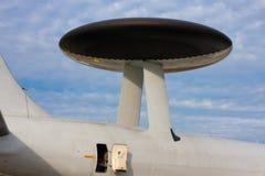 Radar de système aéroporté de détection et de contrôle Images libres de droits