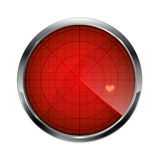 Radar del amor Imágenes de archivo libres de regalías