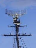 Radar del buque de guerra Imagen de archivo