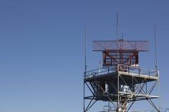 Radar del controllo del traffico aereo Immagine Stock