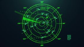 Radar del controllo del traffico aereo stock footage