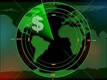 Radar del dinero ilustración del vector