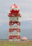 Radar del meteo del aeródromo Fotos de archivo