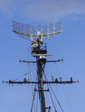 Radar des Kriegsschiffes Stockbild