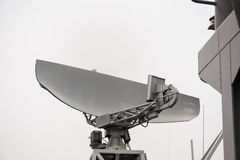 Radar des Marineschiffs Stockfotos
