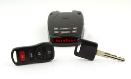 Radar detection, car key and remote Royalty Free Stock Images