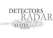 Are Radar Detectors Legal In The Us And In Which States Are They Prohibited Word Cloud. ARE RADAR DETECTORS LEGAL IN THE US AND IN WHICH STATES ARE THEY Stock Images
