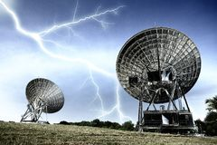 Radar dish Royalty Free Stock Image
