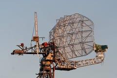 Radar dish. An radar dish turns to gold at sunset Stock Photo